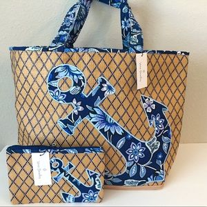 Vera Bradley Beach Tote and Wristlet Set 🆕